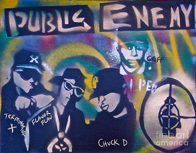 Free Speech Painting -  Public Enemy Black Steel by Tony B Conscious