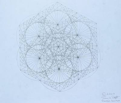 Drawing -  Quantum Snowflake by Jason Padgett