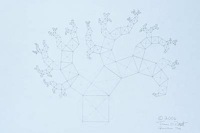 Drawing -  Quantum Tree by Jason Padgett
