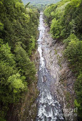 Photograph -  Quechee Gorge Quechee Vermont by Edward Fielding