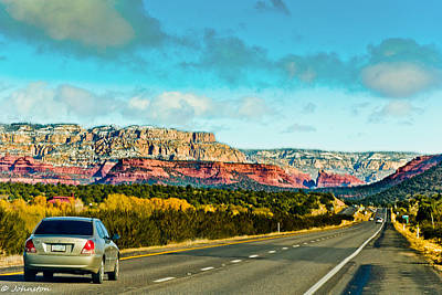 R89 To Sedona Arizona  Art Print by Bob and Nadine Johnston