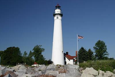 Photograph -  Racine Windpoint Lighthouse by Ricky L Jones