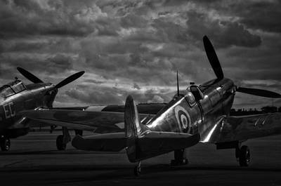 Raf Photograph -  Raf Spitfire And Hurricane  by Jason Green