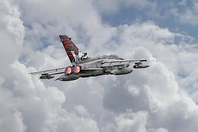 Skyscape Digital Art -  Raf Tornado - 617 Squadron by Pat Speirs