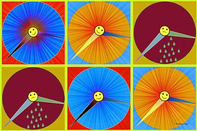 Painting -  Rain Shine Pop - 884 by Irmgard Schoendorf Welch
