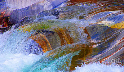 Photograph -  Rapid Current Of The River Verzasca by Lilianna Sokolowska