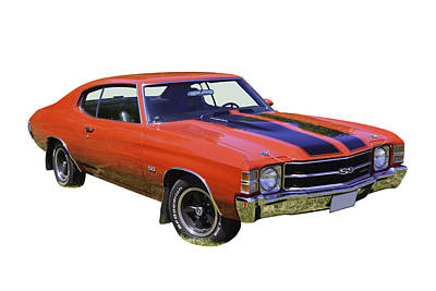Photograph -  Red 1971 Chevrolet Chevelle Ss by Keith Webber Jr