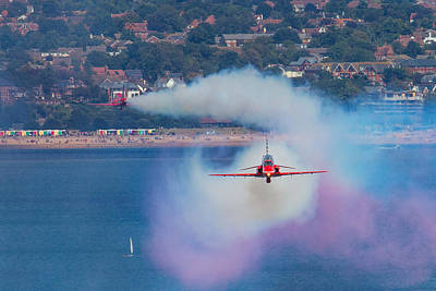 Photograph -  Red Arrows Smoke On At Dawlish by Ken Brannen