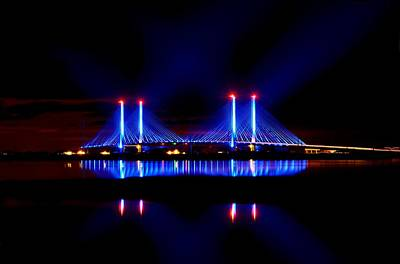Reflecting Bridge - Indian River Inlet Bridge Art Print