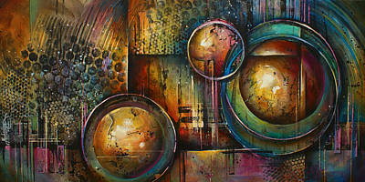 Michael Lang Painting - ' Remaining Elements' by Michael Lang