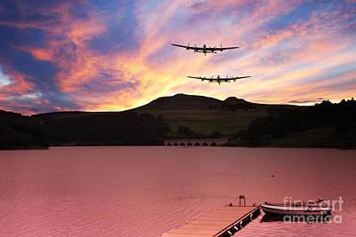 Howden Reservoir Digital Art -  Reservoir Run by J Biggadike