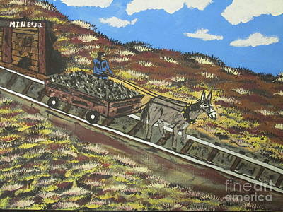 Mine Pit Painting -  Coal Mine #32 by Jeffrey Koss