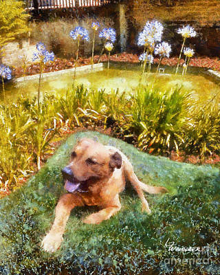 Art Print featuring the painting Alameda Rufus by Linda Weinstock