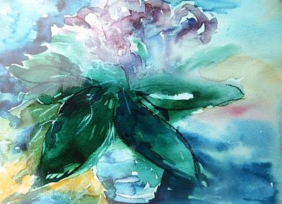 Painting -  Rhododendron  by Trudi Doyle