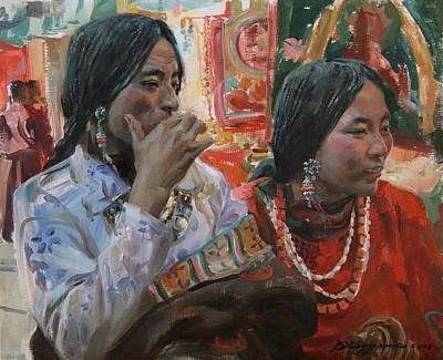 Tibet Painting -  Rich Choice by Victoria Kharchenko