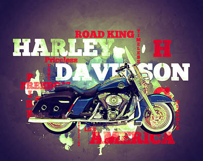 Digital Art -  Road King Classic by Guy Dicarlo