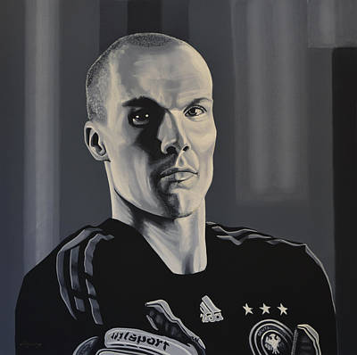 Goalie Painting -  Robert Enke by Paul Meijering
