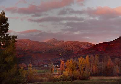 Rocky Peak Autumn Sunset Art Print