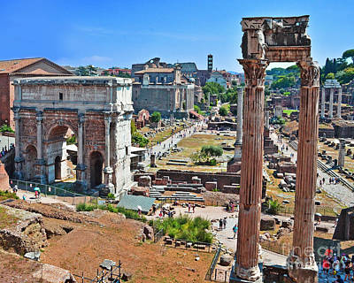 Photograph -  Roman Forum by Jack Moskovita
