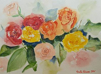 Painting -  Roses For You Still Life by Geeta Biswas
