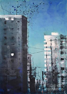 Painting -  Rotterdam by Maja Sokolowska