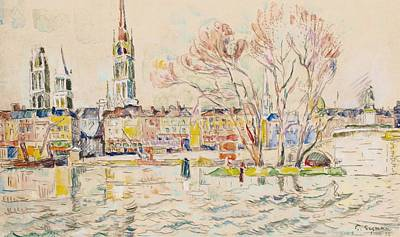 Rouen Art Print by Paul Signac
