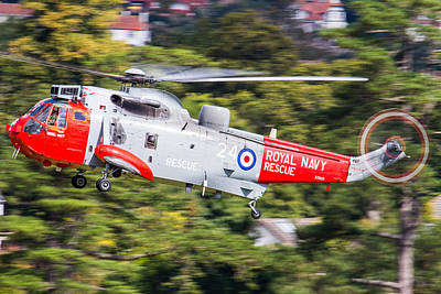Photograph -  Royal Navy Sea King Sar by Ken Brannen
