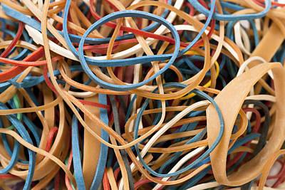 Ball Pen Work Photograph -  Rubber Bands by Donald  Erickson