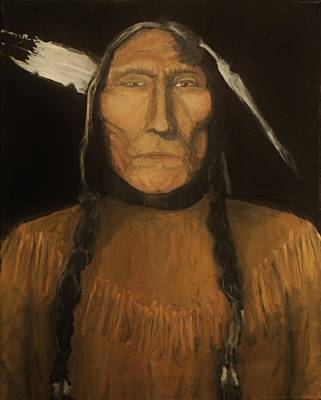 Painting -  Wolfs Robe 1909 Original Sold by Larry E Lamb