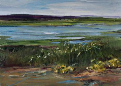 Painting -  Salt Marsh by Diane Ursin