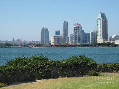 Photograph -  San Diego Viewed From Coronado Island by Claudia Ellis