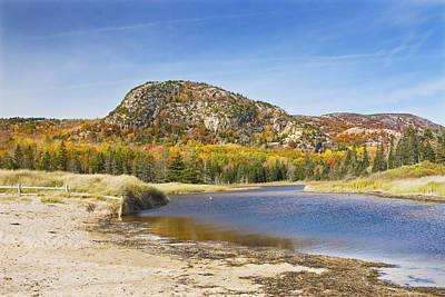 Photograph -  Sand Beach - Beehive - Acadia National Park - Fall - Maine by Keith Webber Jr