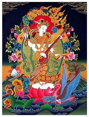 Saraswati 3 Art Print by Lanjee Chee