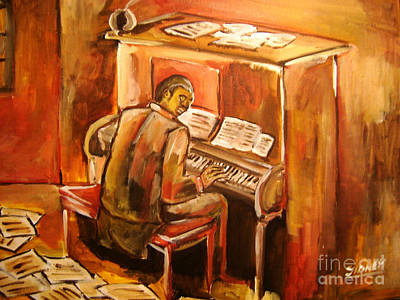 Painting -  Scott Joplin by Sidney Holmes