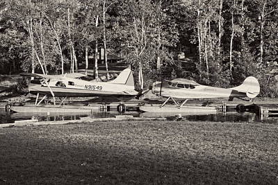 Photograph -  Seaplanes On Moosehead Lake In Maine by Keith Webber Jr