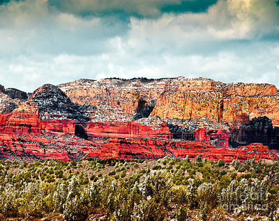 Photograph -  Secret Mountain Wilderness Sedona Arizona by Bob and Nadine Johnston