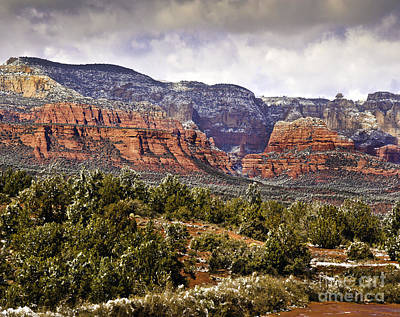Photograph -  Sedona Arizona In Winter Coat by Bob and Nadine Johnston