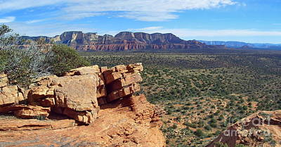 Sedona View From Roober Roost Art Print by Sin D Piantek