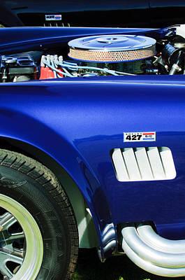 Photograph -  Shelby Cobra 427 Engine by Jill Reger