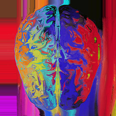 Digital Art -  Shiny Brain by Soumya Bouchachi