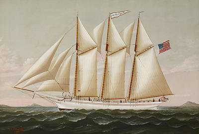 Water Vessels Painting -  Ship by Charles Sidney Raleigh