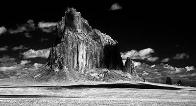 Photograph -  90116 Shiprock East Face by Erik Poppke