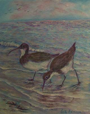 Painting -   Shore  Birds by Beth Arroyo