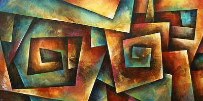 Staircase Painting - ' Shuffle' by Michael Lang