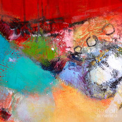 Streetlight Mixed Media -  Sidewalks And Storefronts by Lisa Schafer