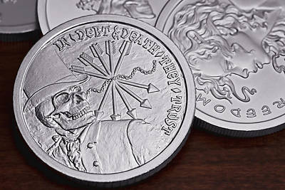 Shield Photograph -  Silver Bullion Debt And Death by Tom Mc Nemar