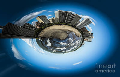 Small World Of Oak Street Beach And Lake Shore Drive In Chicago Art Print