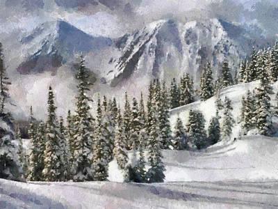 Snow In The Mountains Art Print by Georgi Dimitrov