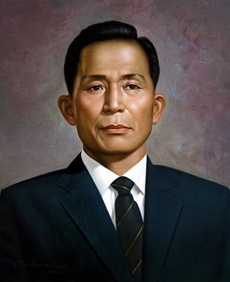Korea Painting -  South Korea's President Park Chung-hee by Yoo Choong Yeul