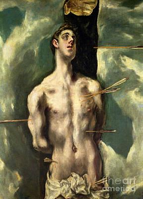 St Sebastian Art Print by El Greco Domenico Theotocopuli